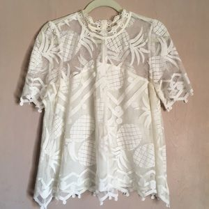 Anthropologie Pina lace top HD in Paris size 10